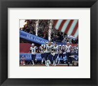 Framed New England Patriots Team Introduction Super Bowl LI