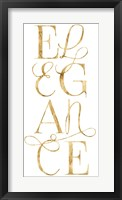 Elegant & Dazzling I Framed Print