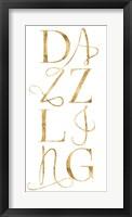 Elegant & Dazzling II Framed Print