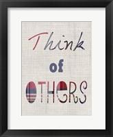 Manners III Framed Print