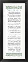 Framed Desiderata Bus Roll Blue Pattern