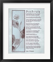 Framed Desiderata Brown Daguerreotype