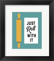 Retro Kitchen III - Just Roll With It Framed Print