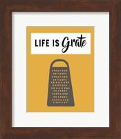 Framed Retro Kitchen I - Life Is Grate