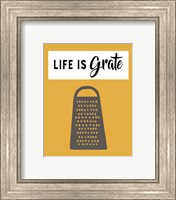Framed Retro Kitchen I - Life Is Grate