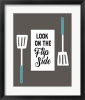 Framed Retro Kitchen II - Look On The Flip Side