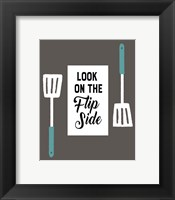 Retro Kitchen II - Look On The Flip Side Framed Print