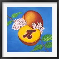 Framed Peach Pi