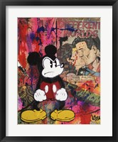 Framed Angry Mickey
