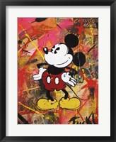 Framed Happy Mickey