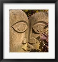 Framed Fiji, Viti Levu, Stone carved sculpture