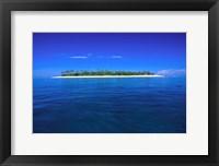 Framed Tavarua Island Fiji