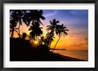 Framed Beach sunset, Hideaway resort, Viti Levu, Fiji