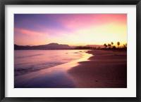 Framed Beach sunset, Nadi, Fiji