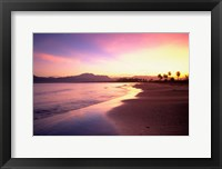 Framed Beach sunset, Nadi, Fiji