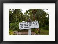 Framed Sign, Kioa Island,  Fiji