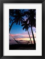 Framed Sunset at Garden Island Resort, Taveuni, Fiji