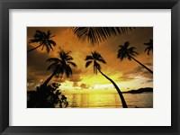 Framed Sunset with palms Fiji