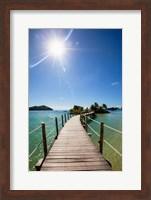 Framed Sun over Likuliku Lagoon Resort, Malolo Island, Mamanucas, Fiji