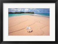 Framed Yawini Beach in Fiji