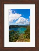 Framed Horseshoe Bay, Matangi Island, Fiji