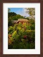 Framed Lush Gardens, Matangi Private Island Resort, Fiji