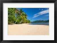 Framed Deserted Beach, Matangi Private Island Resort, Fiji