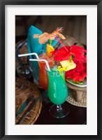 Framed Colorful Cocktails at Matangi Private Island Resort, Fiji