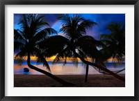 Framed Sunset at Matangi Private Island Resort, Fiji
