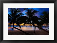 Framed Sunset at Matangi Private Island Resort, Fiji