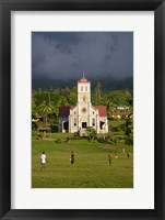 Framed Close up of Taveuni Waiyavo Catholic Church, Fiji