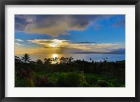 Framed Sunset with Vanua Levu in Background, Fiji
