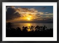 Framed Sunset, Taveuni, Vanua Levu in Background, Fiji