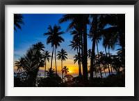 Framed Sunset and Palms, Taveuni, Fiji
