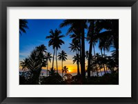 Framed Sunset and Palms, Taveuni, Fiji