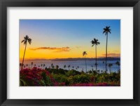 Framed Sunset over Taveuni, Vanua Levu in Background, Fiji