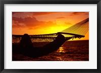 Framed Hammock and Sunset, Denarau Island, Fiji