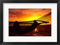 Framed Hammock and Sunset, Denarau Island, Fiji