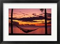 Framed Sunset, Denarau Island, Fiji