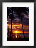 Framed Sunset,  Fiji