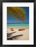 Framed Kayaks on the beach, Mamanuca Islands, Fiji