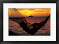 Framed Beach hammock, Plantation Island, Malolo Lailai, Fiji