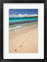 Framed Footprints in sand on Natadola Beach, Coral Coast, Viti Levu, Fiji