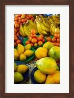 Framed Pawpaw/Papaya, tomatoes and bananas, Sigatoka Produce Market, Sigatoka, Coral Coast, Viti Levu, Fiji