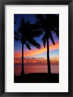 Framed Sunset and palm trees, Coral Coast, Viti Levu, Fiji