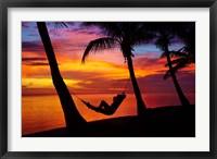 Framed Woman in hammock, Coral Coast, Viti Levu, Fiji