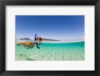 Framed Woman snorkeling, Beqa Island, Fiji