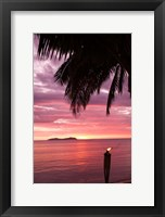 Framed Tropical Sunset, Beqa Island, Fiji