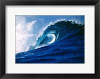 Framed Fiji Islands, Tavarua, Cloudbreak, Surfing waves