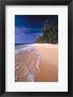 Framed Fiji Islands, Tavarua, Surf over the sand